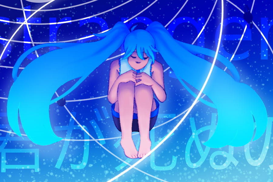 piece for mikumikucollab 2018 - based on i will witness your end by camellia #vocaloid#hatsune miku#fanart#2018#fin#august