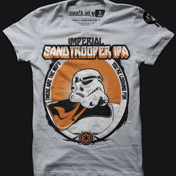 May the Fourth be with you! Got a few of these Imperial Sandtrooper IPA shirts left, totally out of print and they're on sale to boot. www.seventhink.com