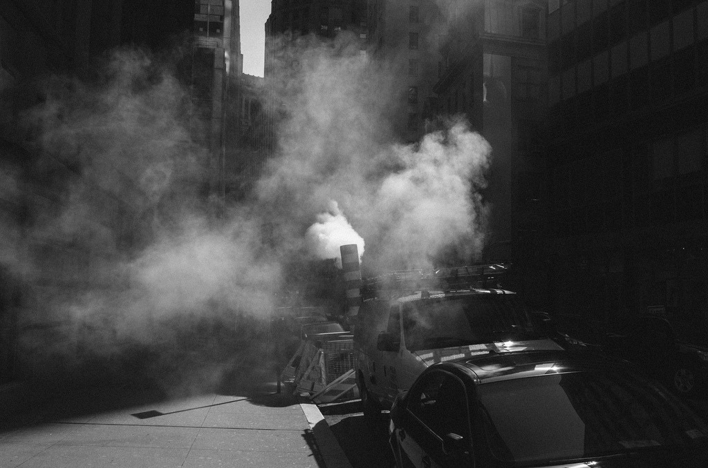 Steamy  Financial District, Manhattan