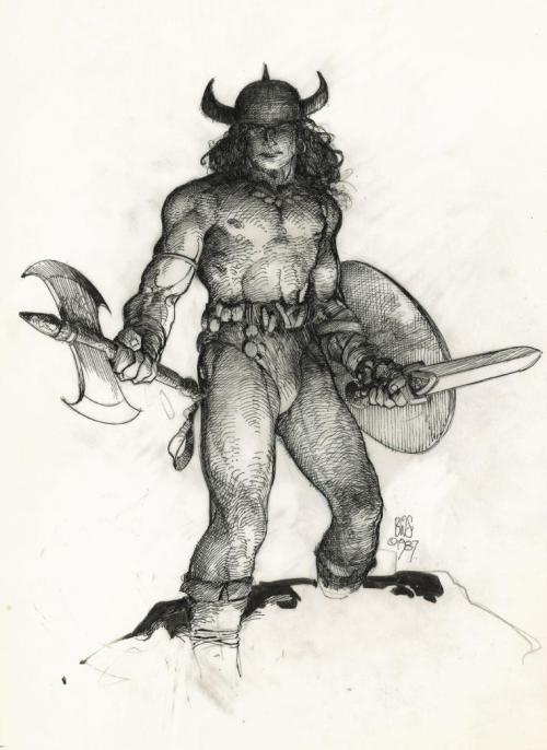 Crom Conan Barbarian BWS Barry Windsor Smith