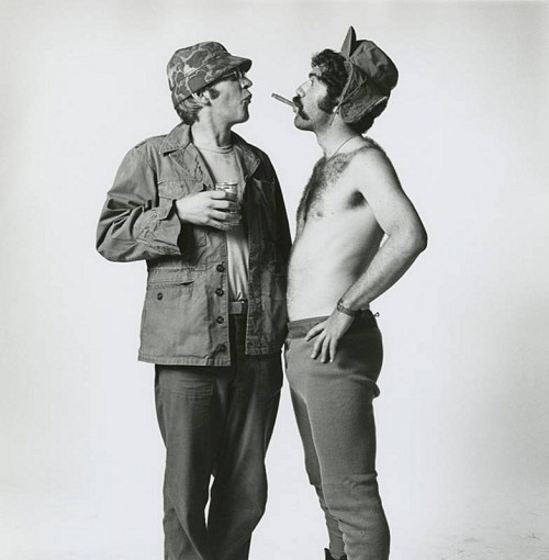 Donald Sutherland and Elliott Gould, 1969 — Lawrence Schiller