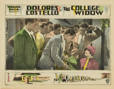 Lobby card for The College Widow (1927). Sold here.
