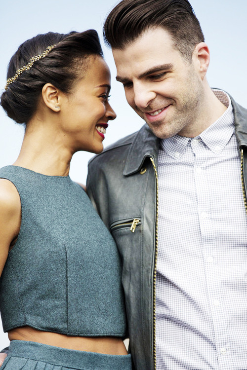 Zoe Saldana and Zachary Quinto