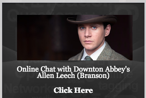 Chat Now with SAG winner Allen Leech! On Masterpiece's site: http://to.pbs.org/WJcAjZ