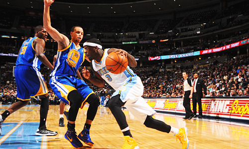Nuggets vs Warriors: Game 1 - Sat April 20, Golden State at Denver, 5:30PM, ESPNGame 2 - Tue April 23, Golden State at Denver, 10:30PM, TNTGame 3 - Fri April 26, Denver at Golden State, 10:30PM, ESPN2Game 4 - Sun April 28, Denver at Golden State, 9:30PM, TNTGame 5 * Tue April 30, Golden State at Denver, TBD, TBDGame 6 * Thu May 2, Denver at Golden State, TBD, TBDGame 7 * Sat May 4, Golden State at Denver, TBD, TNT