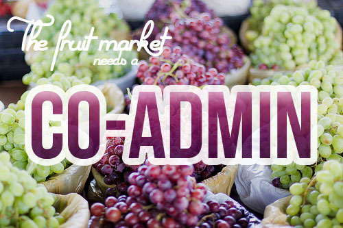 thefruitmarket:  The Fruit Market is looking for a co-admin!  It's sad to say that I'm becoming more busy with life and other writing/blogging projects, so I need a co-admin to keep this beautiful blog going. I'm not looking for much to be a co-admin, just someone who is genuinely interested in this blog, and health food/produce, to keep it going. Our followers are mostly made up of health and fitspo bloggers and some others. How to apply: Drop a message in my ask box with the following Name, age and timezone (just to give me a vague picture of who you are!) How active are you in Tumblr on a scale of 1-10 Why do you like this blog, and how interested are you? Why do you want to co-admin this? Guidelines on how I run the blog below:  Read More  boost