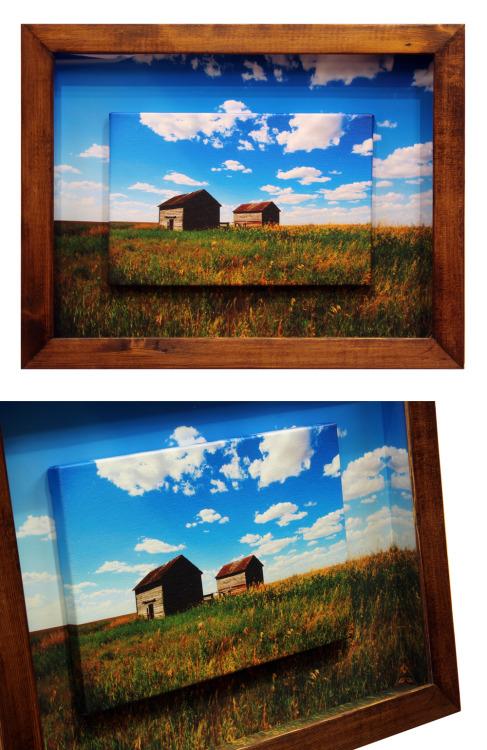 Old Barns Giclee Framed Canvas Print by Joe-Lynn-Design