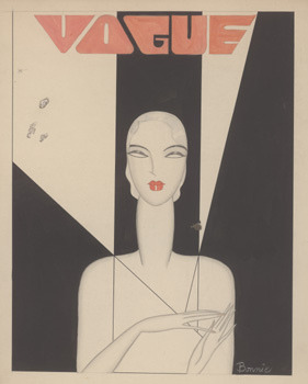 girlflapper:  Bonnie Cashin, Vogue cover, 1927 on Flickr.  Bonnie Cashin, Vogue cover, watercolor and pencil illustration, 1927.