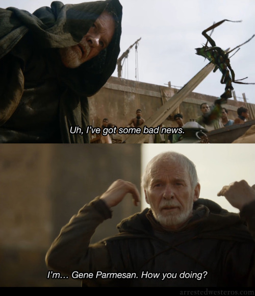 arrestedwesteros:    Gene Parmesan: Uh, I've got some bad news. I'm… Gene Parmesan. How you doing? Amigos - 2x03