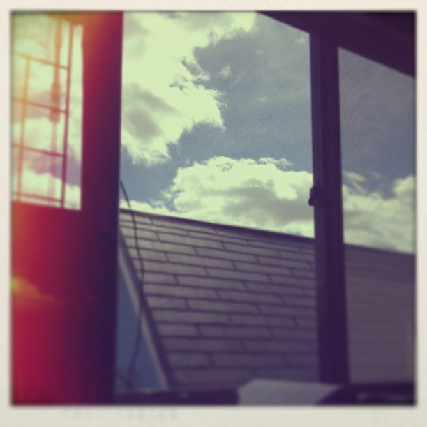 Good afternoon #sky #clouds #afternoon #window