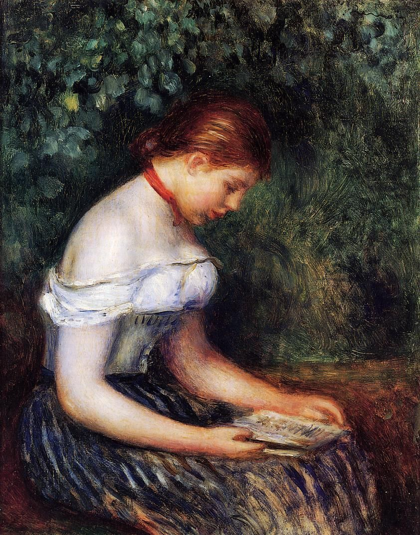 Pierre-Auguste Renoir - The Reader (Seated Young Woman), 1887