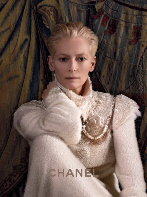 Tilda Swinton by Karl Lagerfeld For CHANEL Paris-Edinburgh 2013 Ad Campaign