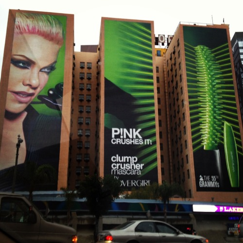 #CoverGirl + GRAMMY Nominee P!nk taking over Downtown LA in #GRAMMYGlam style!