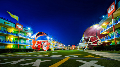disneyparksafterdark:  Disney's All-Star Sports Resort, Walt Disney World