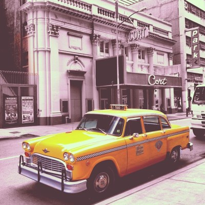 #vintage #nyctaxi #taxi #car #automobile (at Broadway @ Times Square Hotel)