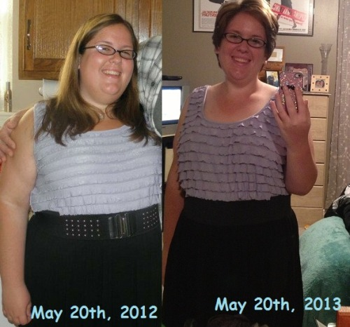 fatsoweightloss:  Happy one year for me! Today marks one year since I started my weight loss journey.   This year has been a tough year with my weight loss and fitness journey but it has been worth it. I have lost a total of 71 lbs in one year. I have done so much in one year!  I have learned how to eat right I have learned what it means to be fit and work out. I have joined a gym. I learned I can run ten minutes without stopping I joined a spinning class. I said good by to the 200's.  I said good bye to plus size clothing I gained confidence I got my hair cut the way I wanted and was not afraid of how it would look. I was on the Rachael Ray due to my weight loss I met my inspirational hero Bob Harper I became an inspiration to many people  Most importantly I created this blog. FATSO is something that means so much to me. I feel that this is a place where I can escape and express my fears, struggles, and high lights. I feel that the people who follow me are truly inspirational and could be considered a family. Without you guys I do not know what I would do. Thank you everyone for making this year an amazing one. I hope to have many years ahead of me! =) THANK YOU!!!