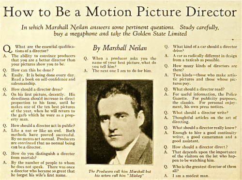 """How to Be a Motion Picture Director,"" lol:"