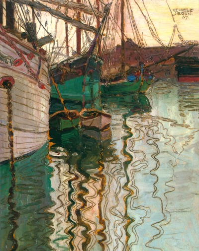 "ronulicny:  ""Port Of Trieste"", 1907  By: EGON SCHIELE…."