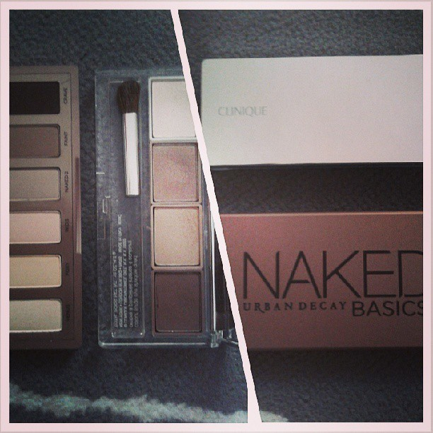 Urban Decay Naked Basics vs Clinique 101 Teddy Bear http://bit.ly/13sqd8T