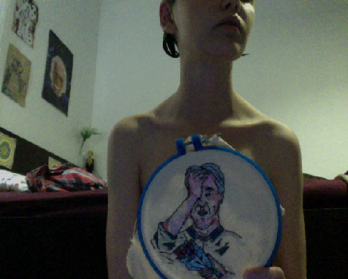 Hair Dye/Jawbreaker/Embroidery/Ataraxia/Angst/Nudity/Spinsterhood =filth.