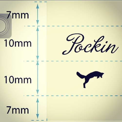 The new label for our Pockin Squares. Small, folded, beige/champagne colored with our fox. We like it, do you? #pockin #pocketsquares