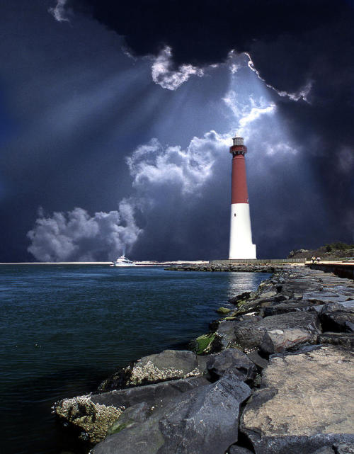 "themerrowsseagarden:  ""Old Barney""Barnegat LighthouseLong Beach Island, NJ"