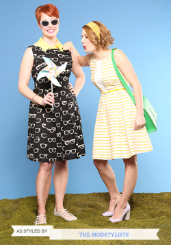modcloth:  Check out the ModStylist BFF Contest winners, Kelsey and Jenna! They are looking adorbs in these Eva Franco frocks!  <3 Amy, ModStylist Need styling suggestions, trend tips, or dress details? Ask a ModStylist and your question might be featured on our feed!