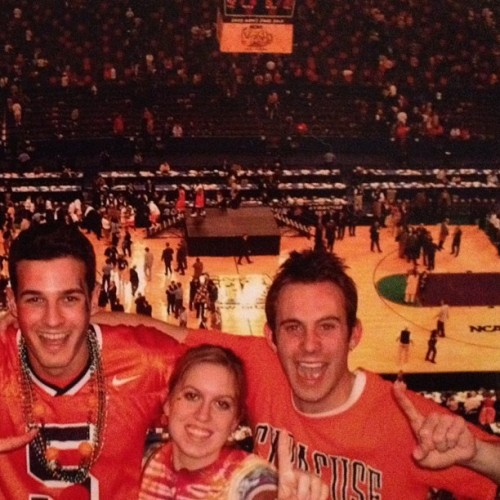 #tbt 10 years ago right after Syracuse won The National Championship in New Orleans. With Claypool and @saraewalt #syracuse