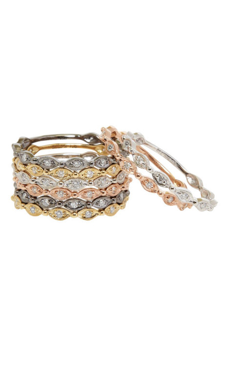 Stacked bangles from Stone Paris. Great pieces for any outfit. We love stacking @ BijouBox.