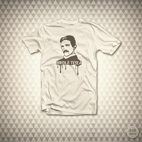 Nikola Tesla - T-Shirt by *mrsbadbugs