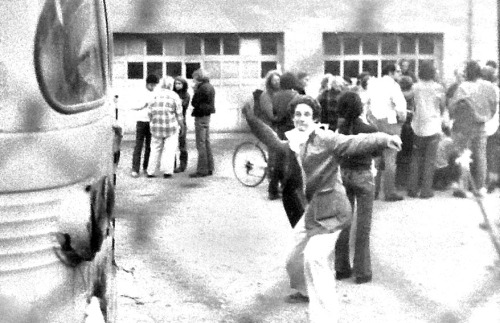 "mn70s:  Rock-Throwing Co-op Occupier, Minneapolis, 1975 Tensions between two factions in the rapidly expanding Twin Cities food cooperative movement escalated into open hostilities on May 5, 1975. A group calling itself the Co-op Organization (CO) took over the People's Warehouse, a cooperative food distribution center located in Minneapolis's West Bank neighborhood. The CO was a politically motivated group focused on empowering the working class. Their opponents were idealistic ""hippies"" who just wanted to provide healthful and socially-responsible alternatives to the big grocery stores. The CO's occupation of the People's Warehouse, while tactically successful, was a strategic blunder. Its whole-foods opponents responded to the takeover by boycotting the warehouse and establishing an alternative food distribution system. In the months that followed, CO activists occasionally resorted to violence and intimidation in their attempts to take control. They did not succeed. In the end, they just came off as a bunch of Marxist bullies. Photo via Minnesota Historical Society  Here is some more on the co-op wars available at the library."