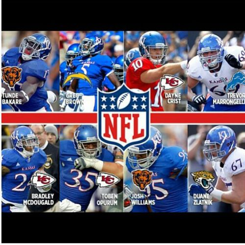 andryushacx:  Congratulations to all the Jayhawks joining Bengals draftee Tanner Hawkinson in the NFL!