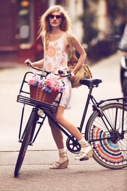 "aintyourforte:  Free People Features ""Girls on Bikes"" for its January 2013 Catalogue"