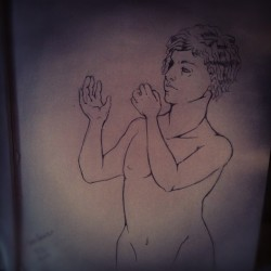 Get huge drawing book Draw a naked man on the frontpage instagram it to lazy to scan it profit
