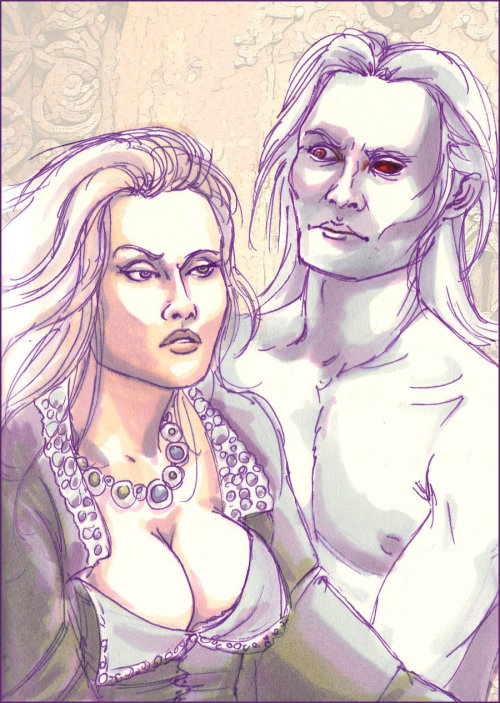 aegor-bittersteel:   Shiera and Bloodraven  by *kethryn