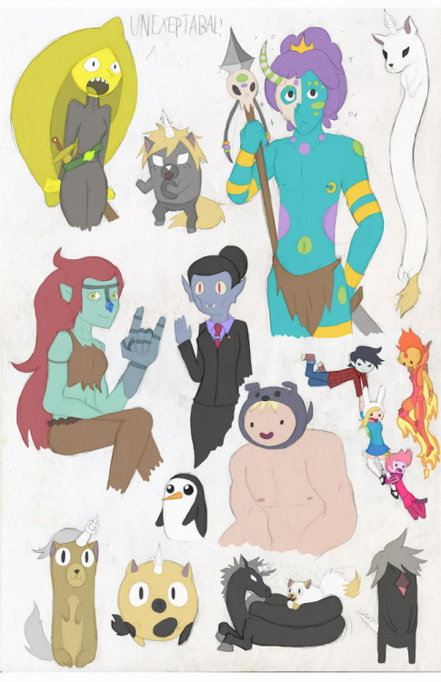 Adventure Time GenderBender-splotion i swar i started drawing Jungle Prince. but things just went out of hand… and i ended up genderbending some charicters that needed to be changed! so i took the liberty and did it myselfso i give you  Duches Leamongal = Earl Leamongrab Alex = Charlie Ka Ke Rin = Kim Kil Whan Billie = BillyHaely Abadeer = Hunson Abadeer Stew Strong = Susan Strong Dulcimer = Viola Radio = T.V. Cake jr. = Jake jr. the oveouse ones that you probibly already know and gunther for some reason
