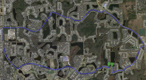 urbanination:  These two Orlando area homes share a back fence but take 17 minutes to drive between.