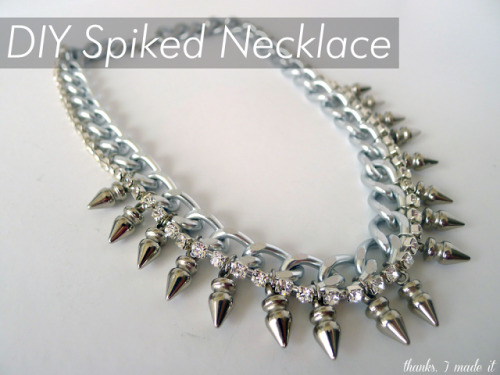 niftyncrafty:  DIY Spiked Necklace | The Zoe Report