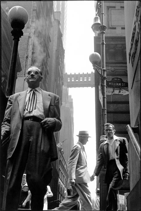 Leonard Freed, Wall Street, New York City, 1956