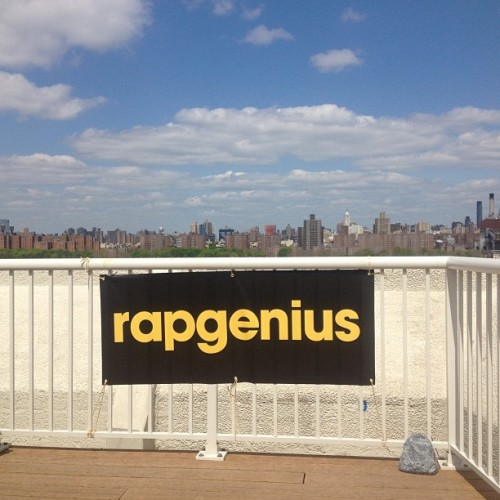 Monday mornings with Rap Genius.
