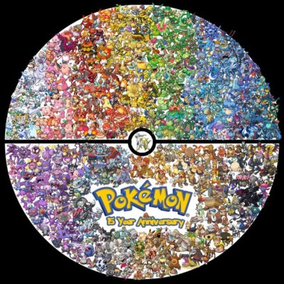 Pokémon's 15 year anniversary, ya'll!! And yes, those are all 649 current poke sprites. #pokemon #15 #year #anniversary #all #generations
