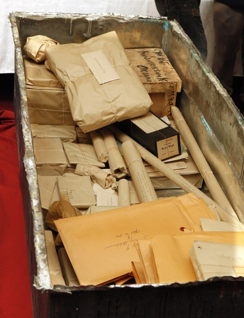 laughingsquid:  After Being Sealed for 100 Years, Time Capsule in Oklahoma City Reveals Pristine Artifacts  this is awesome. the colors are unbelievably brilliant and bright after 100 years. check out he facebook page for more pics.