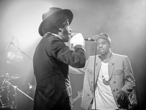 Raashan Ahmad (@raashanahmad) & The Coup (@BootsRiley) live in Paris (pics by @whatchasays & me)