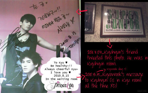 Ryeowook's Message to Kyuhyun(the date is KyuWook's Anniversary xD) 0815 ~♥