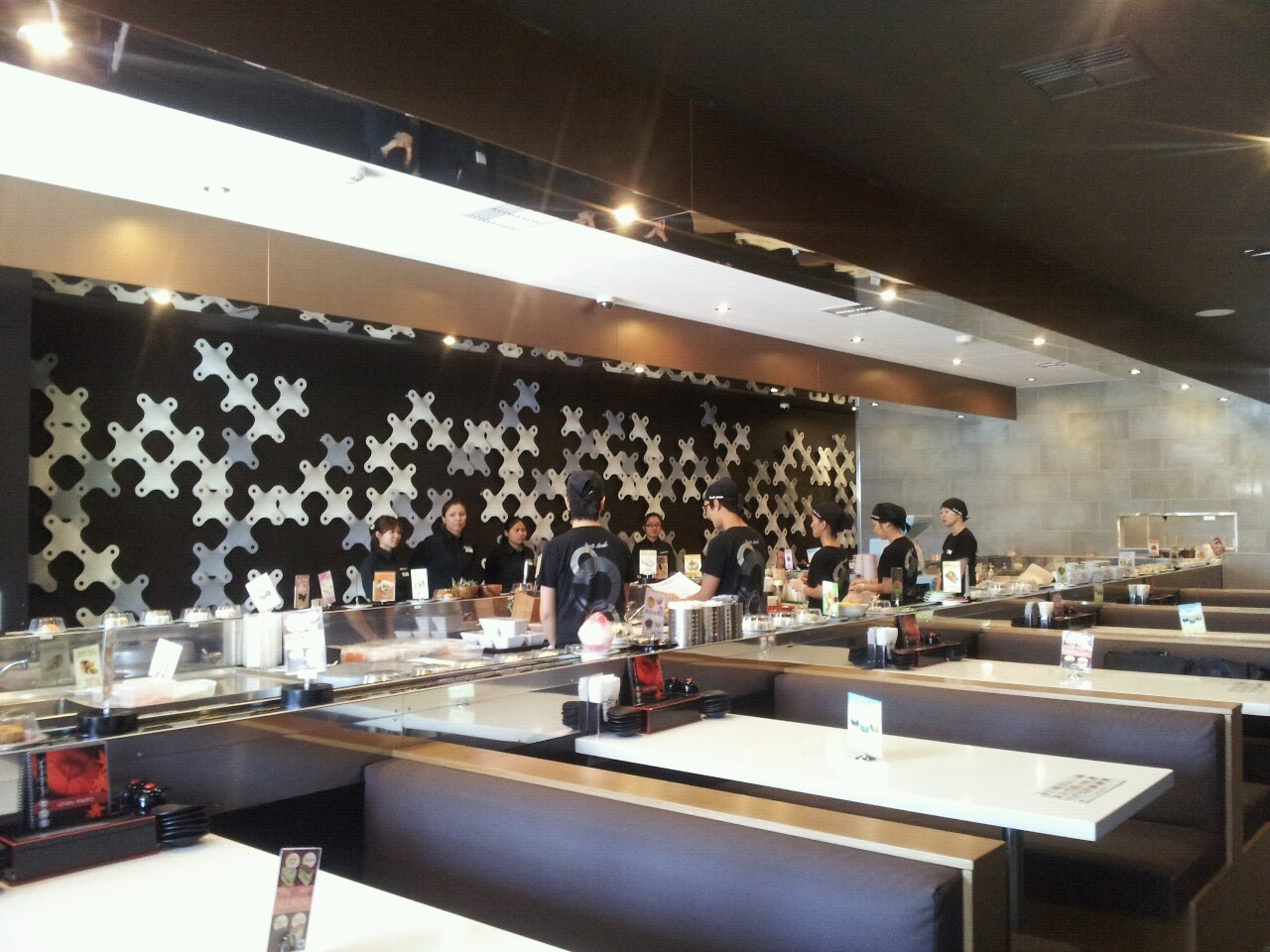 Unley Metro Sushi Train, Adelaide. Full of patrons after only 15 minutes of their daily opening time of 11.30am