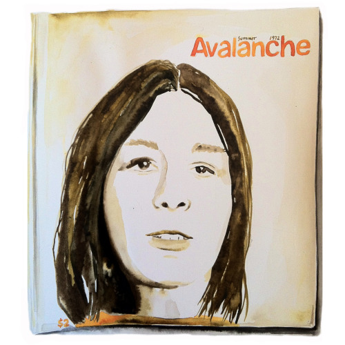 Painting of Yvonne Rainer on the Cover of Avalanch Magazine, Summer 1972 for SHEROS exhibition at Lamp Gallery, Tokyo, Japan 2014.