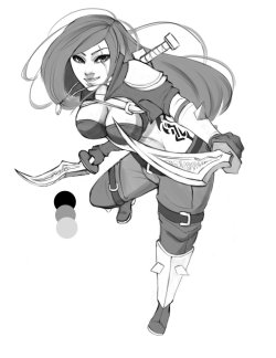 dwaileagueoflegends:  Kat Sketchy by ~Ryuu901