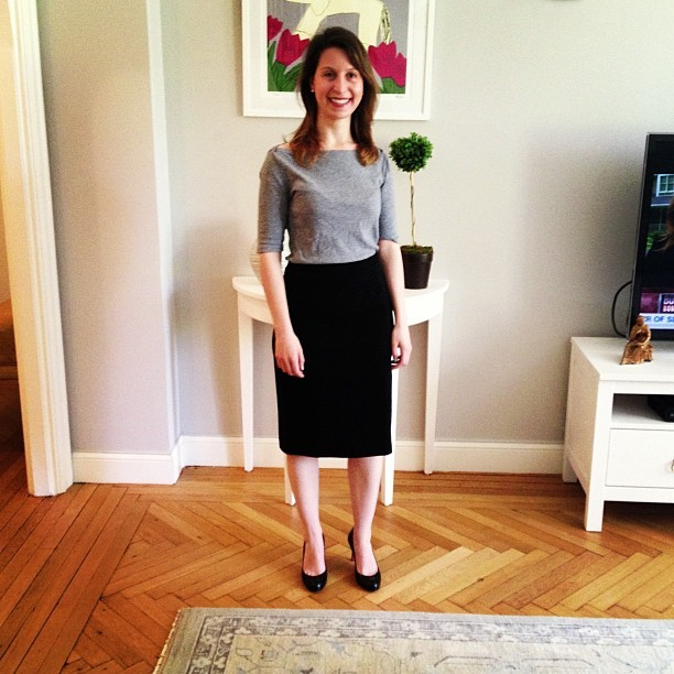 The Natalie pencil skirt has an amazing fit and is super flattering!