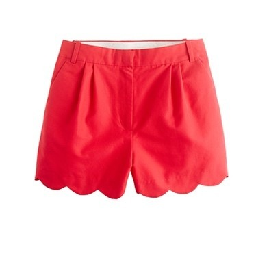 allthingsgirlyandbeautiful:  J.Crew scalloped short in chili