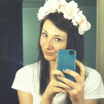 Staying up late making flower crowns b/c sleep is for the weak \m/\m/